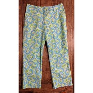 Lilly Pulitzer Leapin Lizards Capris